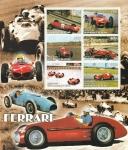 Sellos del Mundo : Africa : Benin : Hoja Bloque - Ferrari, en la Formula 1