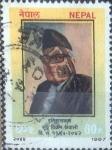 Sellos del Mundo : Asia : Nepal : Scott#460 , crf intercambio 0,20 usd. 60 p. 1987
