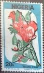 Stamps : Africa : Nigeria :  Scott#493 , intercambio 0,20 usd.  20 k. 1986