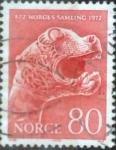 Sellos de Europa - Noruega -  Scott#588 , intercambio 0,45 usd.  80 ore 1972