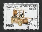 Sellos del Mundo : Asia : Camboya : 1403 - Vehículo antiguo de Bomberos