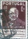 sello : Europa : Portugal : Scott#598 , intercambio 0,20 usd. 40 cents. 1940