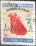 sello : America : Rep_Dominicana : Scott#C193 , intercambio 0,20 usd. 7 cents. 1972
