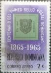 sello : America : Rep_Dominicana : Scott#C142 , intercambio 0,20 usd. 7 cents. 1965