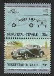 Sellos del Mundo : Oceania : Tuvalu : Nukufetau - Automóvil inglés Bristol 400 de 1950