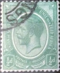 Stamps South Africa -  Scott#2 , intercambio 0,20 usd. 0,5 d. 1913