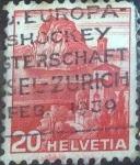 Stamps Switzerland -  Scott#243 , intercambio 0,25 usd. 20 cents. 1938
