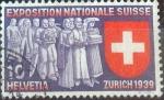 Sellos de Europa - Suiza -  Scott#247 , intercambio 0,20 usd. 10 cents. 1939