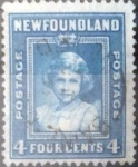 Stamps : America : New_Foundland :  Scott#247 , intercambio 0,20 usd. 4 cents. 1938