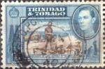 Stamps : America : Trinidad_y_Tobago :  Scott#55 , intercambio 0,75 usd. 6 cents. 1955