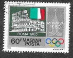 Stamps Hungary -  2586 - JJOO de Moscú 1980