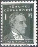 Stamps Turkey -  Scott#740 , intercambio 0,20 usd. 1 kurush.1931