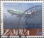 Stamps : Africa : Zambia :  Scott#41 , intercambio 0,20 usd. 3 ngwee. 1968