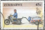Stamps : Africa : Zimbabwe :  Scott#629 , intercambio 2,40 usd. 45 cents. 1990