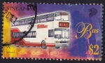 Sellos de Asia - Singapur -  Bus