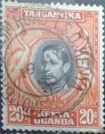 Stamps : Africa : Kenya :  Scott#74 , intercambio 0,20 usd. 20 cents. 1938