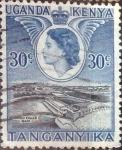 Stamps : Africa : Kenya :  Scott#108 , intercambio 0,20 usd. 30 cents. 1954