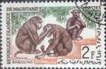 Stamps : Africa : Mauritania :  Scott#137 , intercambio 0,20 usd. 2 fr. 1963