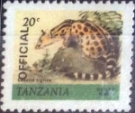 Sellos de Africa - Tanzania -  Scott#O28 , intercambio 0,60 usd. 20 cents. 1980