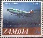 Stamps : Africa : Zambia :  Scott#41 , intercambio 0,20 usd. 4 ngwee. 1968
