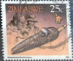 Stamps : Africa : Zimbabwe :  Scott#623 , intercambio 0,20 usd. 25 cents. 1990