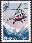 Sellos de Europa - Polonia -  helicóptero MI-2