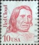 de America - Estados Unidos -  Scott#2175e , intercambio 0,20 usd. 10 cents. 1987