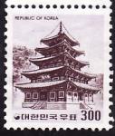 Sellos del Mundo : Asia : Corea_del_sur : Templo coreano