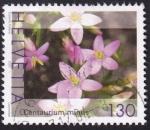 Stamps Switzerland -  centaurium minus