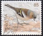 Stamps : Europe : Switzerland :  fringilla coelebs