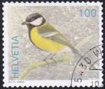 Stamps : Europe : Switzerland :  parus major