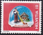 Stamps : Europe : Switzerland :  bola cristal con nieve