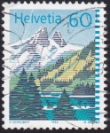Stamps : Europe : Switzerland :  lago Tanay