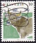 Stamps : Europe : Switzerland :  uro euroasiático