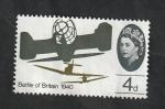 Sellos del Mundo : Europa : Reino_Unido :  410 - 25 Anivº de la Batalla de Inglaterra, Spitfire