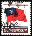 Stamps China -  Bandera
