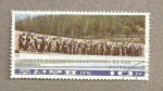 Stamps North Korea -  Monumento Wangjaesan