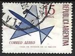 Sellos de America - Argentina -  Avion estilizado