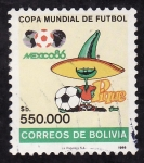 Sellos de America - Bolivia -  México 86