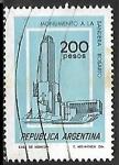 Stamps : America : Argentina :  Monumento a la bandera - Rosario