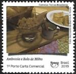 Stamps : America : Brazil :  Comidas típicas - Ambrosia y bolo de milho