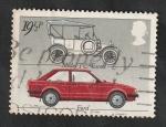 sello : Europa : Reino_Unido : 1059 - Ford: Modelo T y Escort
