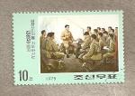 Stamps North Korea -  Actividades Revolucionarias de Kim il Sung