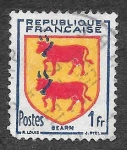 Stamps of the world : France :  661 - Escudo de Bearn