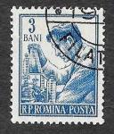 Stamps : Europe : Romania :  1024 - Químico