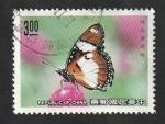 Stamps : Asia : Taiwan :  1837 - Mariposa, hypolimnas misippus