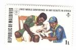 Stamps : Asia : Maldives :  Primera conferencia mundial de Boy Scouts en Africa