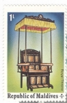 Stamps : Asia : Maldives :  Trono real