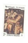 Stamps : Asia : Maldives :  300 Aniversario del nacimiento de Miguel Angel