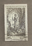 Sellos de Europa - Checoslovaquia -  San Juan el Bautista por Svabinski